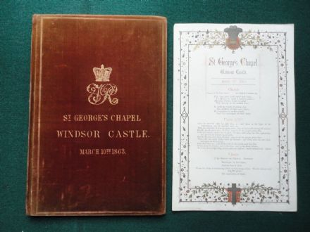 Royal Ceremonial for Marriage of King Edward VII & Queen Alexandra 1863 Windsor